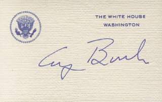 PRESIDENT GEORGE H.W. BUSH - WHITE HOUSE CARD SIGNED
