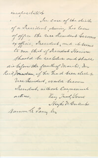HUGH McCULLOCH - AUTOGRAPH LETTER SIGNED 10/16/1892