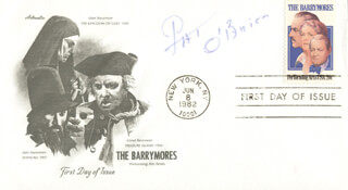 PAT O'BRIEN - FIRST DAY COVER SIGNED
