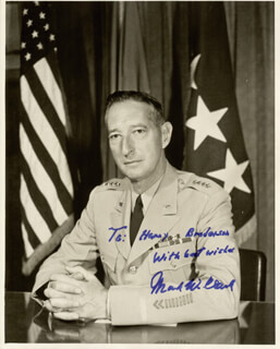 GENERAL MARK W. CLARK - AUTOGRAPHED INSCRIBED PHOTOGRAPH