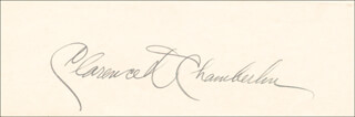 CLARENCE D. CHAMBERLIN - AUTOGRAPH