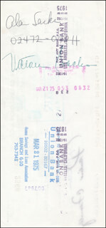 Autographs: ALAN SACKS - PAYCHECK ENDORSED 03/20/1975