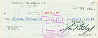 SAMUEL GOLDWYN JR. - AUTOGRAPHED SIGNED CHECK 02/14/1972