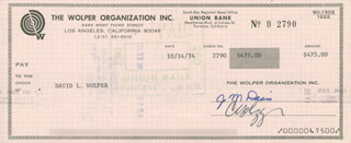 DAVID L WOLPER - PAYCHECK ENDORSED 10/14/1974