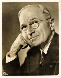 PRESIDENT HARRY S TRUMAN - AUTOGRAPHED INSCRIBED PHOTOGRAPH 02/27/1957