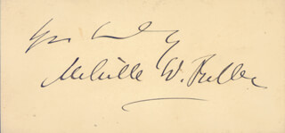 Autographs: CHIEF JUSTICE MELVILLE W. FULLER - CALLING CARD SIGNED