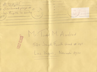 ANDRE LANDZAAT - AUTOGRAPH ENVELOPE SIGNED 09/1984