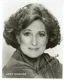 ANNE FRANCINE - AUTOGRAPHED SIGNED PHOTOGRAPH