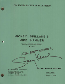 STACY KEACH - SCRIPT SIGNED CIRCA 1984