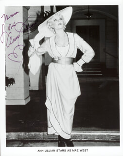 ANN JILLIAN - AUTOGRAPHED SIGNED PHOTOGRAPH