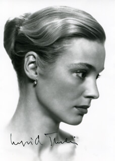 INGRID THULIN - AUTOGRAPHED SIGNED PHOTOGRAPH