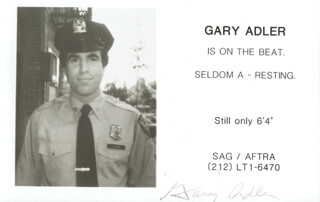 GARY ADLER - FLYER SIGNED
