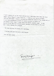 ESMOND KNIGHT - TYPED LETTER SIGNED 08/04/1984