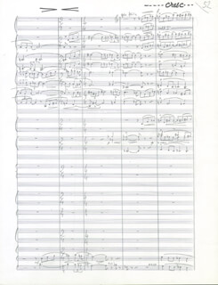 PAUL MISRAKI - INSCRIBED MUSICAL SCORE SIGNED