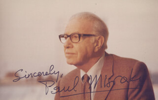 PAUL MISRAKI - AUTOGRAPHED SIGNED PHOTOGRAPH