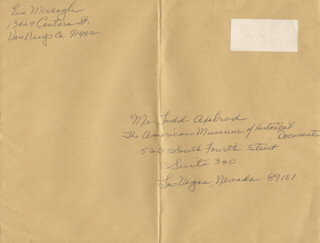EVE McVEAGH - AUTOGRAPH ENVELOPE SIGNED CIRCA 1984