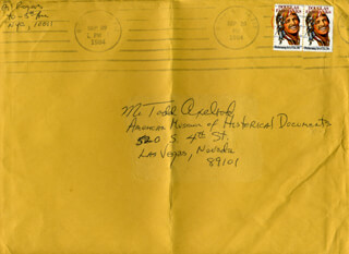 GIL ROGERS - AUTOGRAPH ENVELOPE SIGNED CIRCA 1984