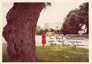 FIRST LADY LADY BIRD JOHNSON - AUTOGRAPHED INSCRIBED PHOTOGRAPH  - HFSID 3992