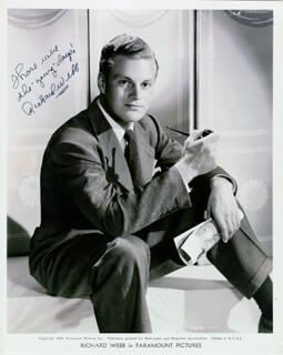 RICHARD WEBB - AUTOGRAPHED SIGNED PHOTOGRAPH CIRCA 1941