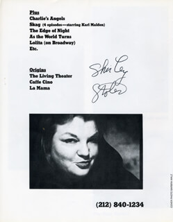 SHIRLEY STOLER - PAMPHLET SIGNED