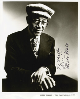 EUBIE BLAKE - AUTOGRAPHED INSCRIBED PHOTOGRAPH