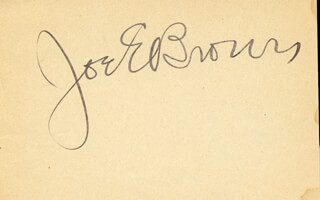JOE E. BROWN - AUTOGRAPH