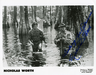 NICHOLAS WORTH - AUTOGRAPHED SIGNED PHOTOGRAPH