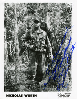NICHOLAS WORTH - AUTOGRAPHED INSCRIBED PHOTOGRAPH