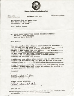 PAUL WINCHELL - DOCUMENT SIGNED 09/22/1982