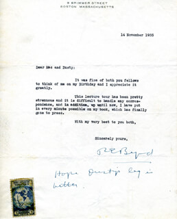 Autographs: REAR ADMIRAL RICHARD E. BYRD - TYPED LETTER SIGNED 11/14/1935