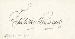 LILLIAN RUSSELL - AUTOGRAPH