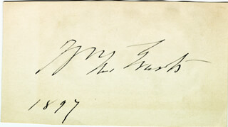 WILLIAM M. EVARTS - AUTOGRAPH 1897