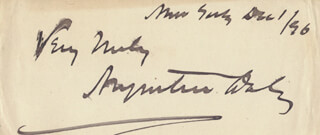Autographs: AUGUSTIN DALY - AUTOGRAPH SENTIMENT SIGNED 12/01/1896