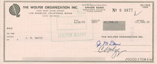 J. MIKE DAVIS - CHECK SIGNED & ENDORSED 04/28/1975
