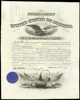 PRESIDENT WILLIAM McKINLEY - MILITARY APPOINTMENT SIGNED 05/23/1898 CO-SIGNED BY: LT. GENERAL HENRY C. CORBIN, RUSSELL A. ALGER