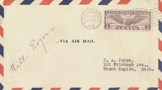 WILL ROGERS SR. - ENVELOPE SIGNED CIRCA 1931