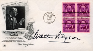WALTER PIDGEON - FIRST DAY COVER SIGNED