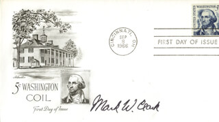 Autographs: GENERAL MARK W. CLARK - FIRST DAY COVER SIGNED