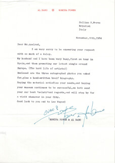 ROMINA POWER - TYPED LETTER SIGNED 11/20/1984 CO-SIGNED BY: ALBANO AL BANO CARRISI