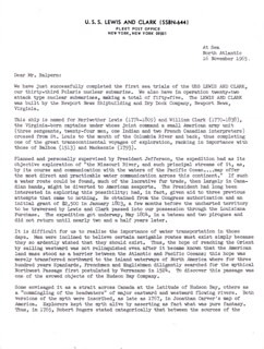 ADMIRAL HYMAN G. RICKOVER - TYPED LETTER SIGNED 11/16/1965
