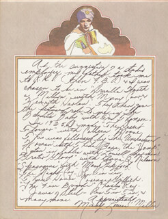 MARY LOUISE MILLER - AUTOGRAPH BIOGRAPHY SIGNED