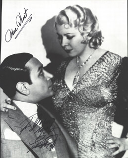 NIGHT AFTER NIGHT MOVIE CAST - INSCRIBED MAGAZINE PHOTO SIGNED CO-SIGNED BY: MAE WEST, GEORGE RAFT