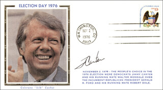 Autographs: PRESIDENT JAMES E. JIMMY CARTER - COMMEMORATIVE COVER SIGNED