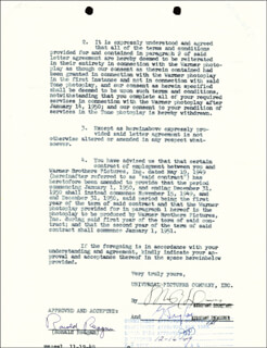 PRESIDENT RONALD REAGAN - DOCUMENT SIGNED 12/05/1949
