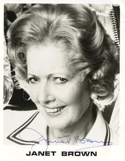 JANET BROWN - AUTOGRAPHED SIGNED PHOTOGRAPH