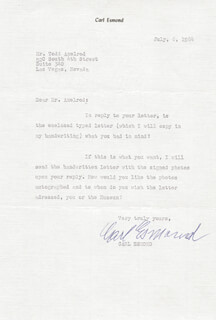 CARL ESMOND - TYPED LETTER SIGNED 07/06/1984