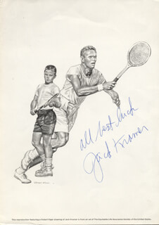 JACK KRAMER - PRINTED ART SIGNED IN INK