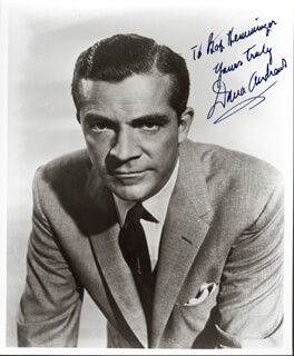 DANA ANDREWS - AUTOGRAPHED SIGNED PHOTOGRAPH