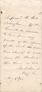 PRESIDENT ULYSSES S. GRANT - AUTOGRAPH ENDORSEMENT SIGNED 08/04/1863 CO-SIGNED BY: GEORGE W. GRAHAM