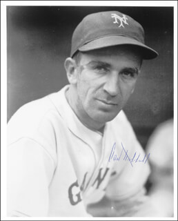 CARL HUBBELL - AUTOGRAPHED SIGNED PHOTOGRAPH  - HFSID 41016